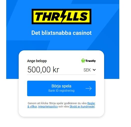 Hämta din stora casino bonus nu på Thrills!