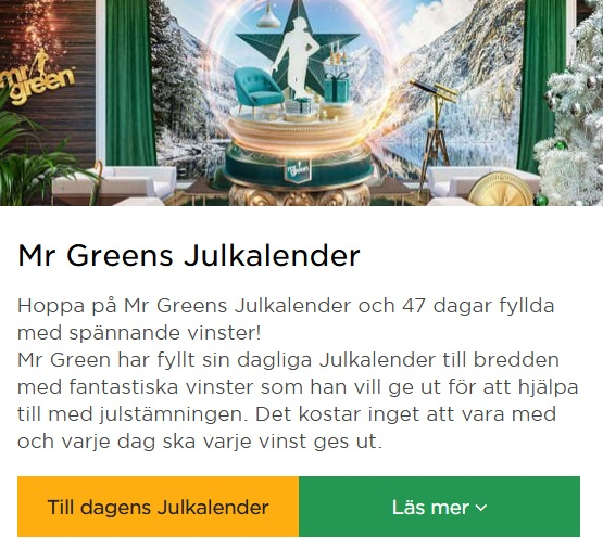 Här är Mr Green Julpriser!