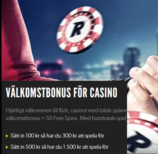 Två olika casino bonusar hos Rizk Casino!